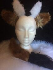 Light Brown Goat Ears And Tail Fancy Dress One Size Dress Up Animal Costume Set