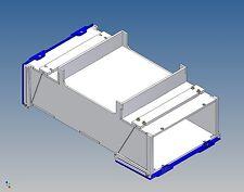 Pb100-palettenstaubox para Carson tráiler - 100/90 l x 46 h x 180 B
