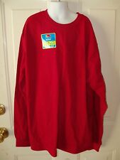 Fruit of The Loom Kayak Red Long Sleeve T-shirt Size 18 Boy's NEW LAST ONE