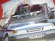 SAAB 900 SEDAN + POLICE POLIS POLIISI POLIZEI + BLISTER OVP + 1:43