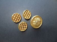 Antique Set of Gilded Brass Metal Craft/Collectible Buttons