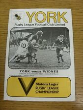 03/01/1982 Rugby League Programme: York v Widnes  . Condition: We aspire to insp