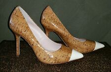 Vince Camuto Laquered Cork Pump Size 6 AD027