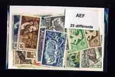 Afrique Equatoriale Française - AEF 25 timbres différents