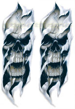 Set Of Two Skull Stickers Decals 4 Forks Fork Harley