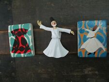 Ottoman CAFTAN ceramic magnets Turkish kaftan sultan whirling dervish Lot 3