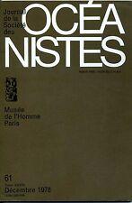 Journal de la Société des Océanistes N° 61  Décembre 1978