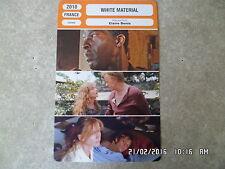 CARTE FICHE CINEMA 2010 WHITE MATERIAL Isabelle Huppert Isaach de Bankole