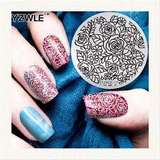 Stamping Nail Art Plate image, 5.6 cm en acier inoxydable modèle polonais 052