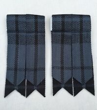 Men's Kilt Sock Flashes Grey Watch Tartan/Scottish Highland Kilt Hose Flashes
