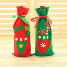 Wine Bottle Cover Bags Christmas Santa Claus Dinner Party Xmas Table Decor New