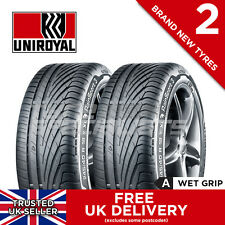 "2x NEW 195 55 16 UNIROYAL RAINSPORT 3 195/55R16 87H (2 TYRES) MAX ""A"" WET GRIP"