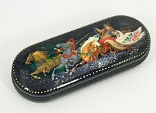 Russian Lacquer Box - Eyeglass Case #0219 TROIKA