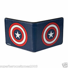 Avengers Age of Ultron Captain America Buckle Down Shield Bifold Wallet NEW BLUE