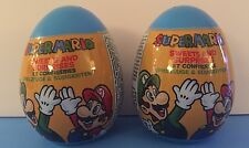 2 SUPER MARIO BROTHERS PLASTIC SURPRISE EGGS WITH TOY & CANDY INSIDE