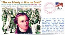 "COVERSCAPE computer designed 240th anniversary ""Liberty or Death Speech"" cover"