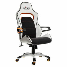 Nitro Concepts Gaming Office Racing Chair PU Leather Esport Seat NC-E220E-WO-UK