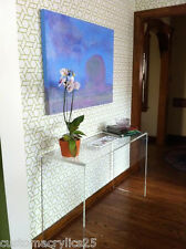 "1"" Thick Clear Acrylic Waterfall Style Console Table - 36""L x 15""D x 30""H"