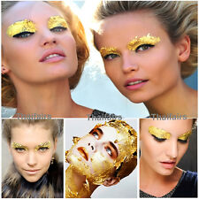 GOLD LEAF MAKE UP FACE PAINT BODY PAINTING STAGE FANCY DRESS PARTY x 100 Pieces