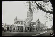 Glass Magic Lantern Slide SAILSBURY CATHEDRAL C1890 L101