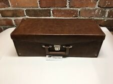 *Vintage* 8 TRACK CASSETTE STORAGE CARRYING CASE, 24 Tapes - Brown Faux Leather