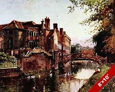 QUEENS COLLEGE CAMBRIDGE ENGLAND ENGLISH LANDSCAPE ART PAINTING CANVAS PRINT