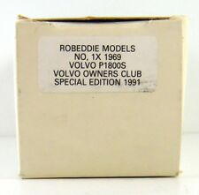 ROB EDDIE - BROOKLIN 1969 VOLVO  #1  P 1800 S 1:43 (BOX ONLY)