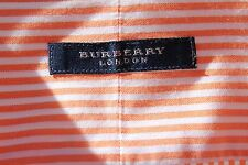 Burberry London 17L Gent's Orange & White Striped Dress Shirt - USA - $385.00