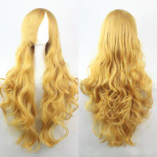 Fashion Women Curly Wavy Straight Full Wig Costume Party Wig Heat Resistant Hair