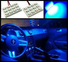 2 Super blue 12 SMD LED interior map dome light panels Xenon bulbs lamp HID #A2