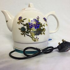 Electric Ceramic 1.2L  Kettle Colour Changing Vintage Tea Pot Peony Flower