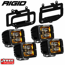 Rigid Radiance LED Fog Light Kit Amber Backlight for 15-17 Ford F150 46555 20204