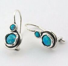 E00181OP_M SHABLOOL Didae Blue Fire Opal Sterling Silver 925 Earrings