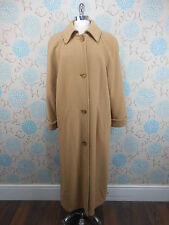 Vintage 1980s Ladies Classic Extra Long Camel Beige Brown Cashmere Wool Coat 16