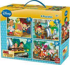 4 en 1 para Niños Jake & The Neverland Pirates Jigsaw Puzzle Boxset 05251