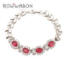 TB449 Fantastic Gift Ruby Bracelet Silver Filled Fashion Jewelry for Women