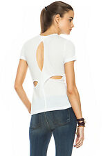 RAG AND BONE SLASH BACK TEE T-SHIRT SMALL