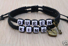 Handmade King and Queen Bracelet  Lovers Bracelet  Key Lock Anniversary Jewelry