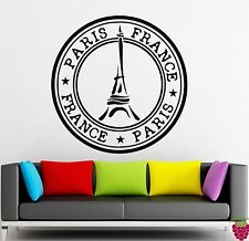 Wall Stickers Vinyl Decal Paris France Eiffel Tower Europe Travel Symbol (ig198)