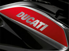SILVER BRUSHED DUCATI STICKERS FOR GAS TANK  DECALS