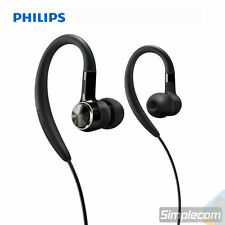 PHILIPS Sports Earhook In-Ear Headphones SHS8100 for MP3 Apple iPhone iPod BLACK