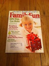 FAMILY FUN MAGAZINE December January 2007 CHRISTMAS HOLIDAY SPECIAL Party Food