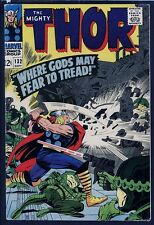 Thor 132 KEY 1st EGO Stan Lee, Jack Kirby 1966 NICE 12c Marvel Comic GOTG FILM