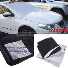 Car Auto Magnet Windshield Windscreen Cover Sun Snow Ice Frost Protector Black