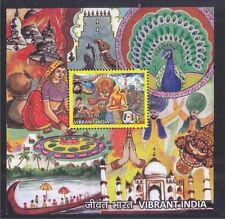 INDIA 2016 VIBRANT INDIA (PEACOCK, YOGA) SOUVENIR SHEET OF 1 STAMP IN MINT MNH