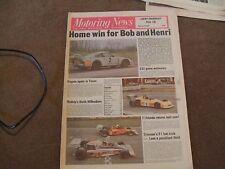 Motoring News 20 April 1978 AVO RS2000 Brian Henton Dijon WCM Gp5 Aurora F1 F3