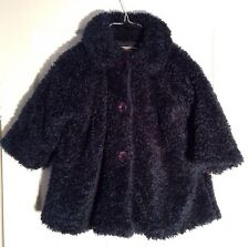 Boutique Girls Coat Size 2 Blue Chenille Curly Plush Le Grenier des Frimousses
