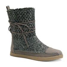 NEW Women's STEVE MADDEN GIRL JACKMEN Fleece Lined Boots Size 6 DARK GRAY $60