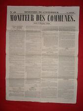 JOURNAL LE MONITEUR DES COMMUNES MINISTERE DE L'INTERIEUR 49 - 9 DECEMBRE 1858