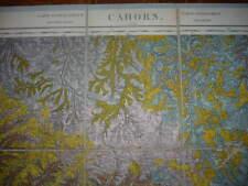 GRANDE CARTE GEOLOGIQUE DE LA FRANCE EN COULEURS CAHORS 1900
